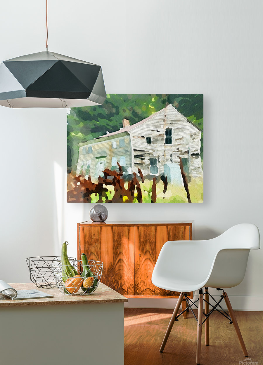 Cummington Old House  HD Metal print with Floating Frame on Back