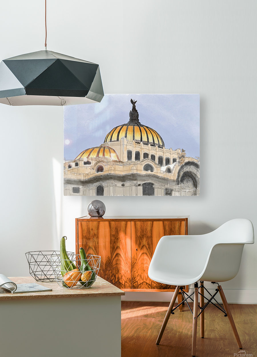 Mexico City Palacio Bellas Artes  HD Metal print with Floating Frame on Back