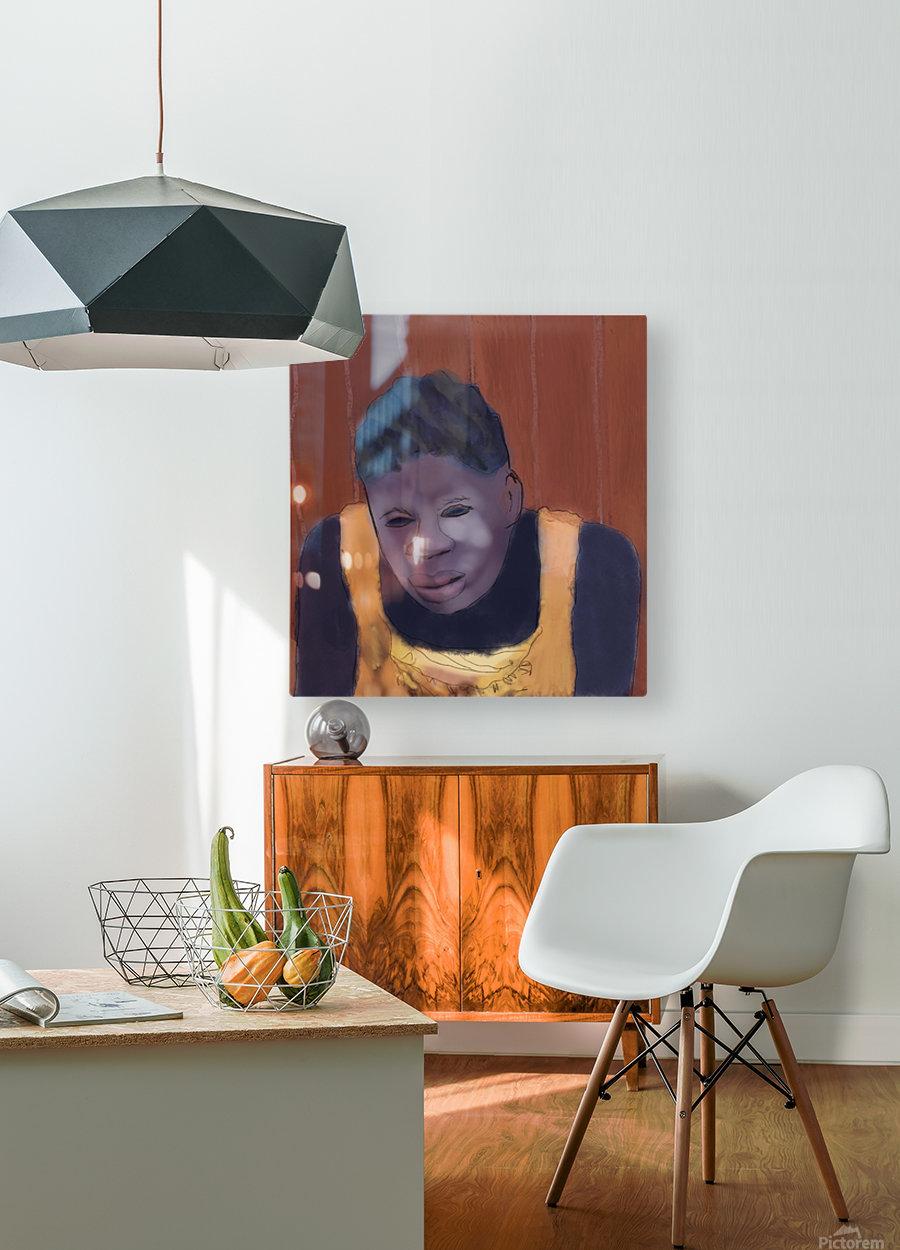 Whitney Plantation Slave Girl 4  HD Metal print with Floating Frame on Back