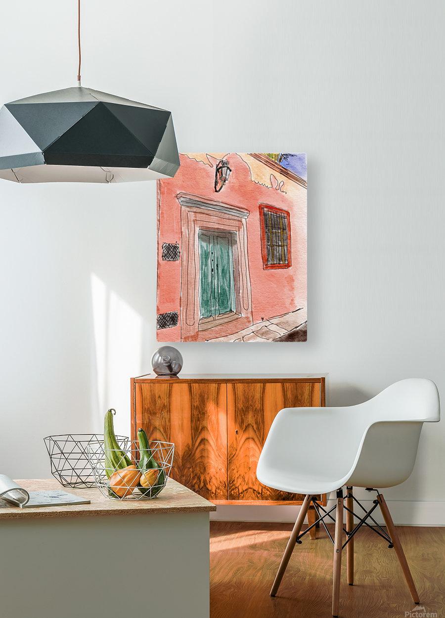 Mexico San Miguel de Allende Door 1  HD Metal print with Floating Frame on Back