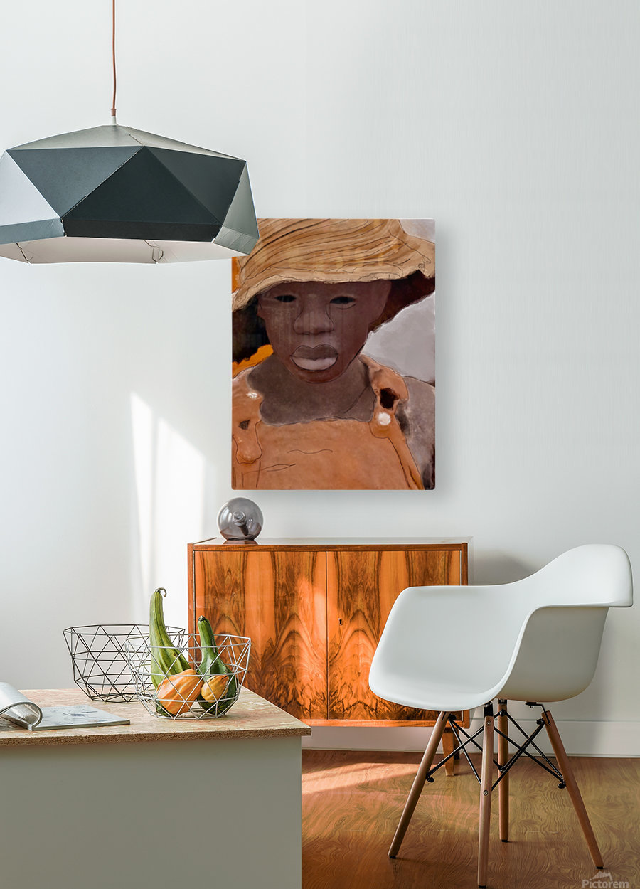 Whitney Plantation Slave Girl 1  HD Metal print with Floating Frame on Back