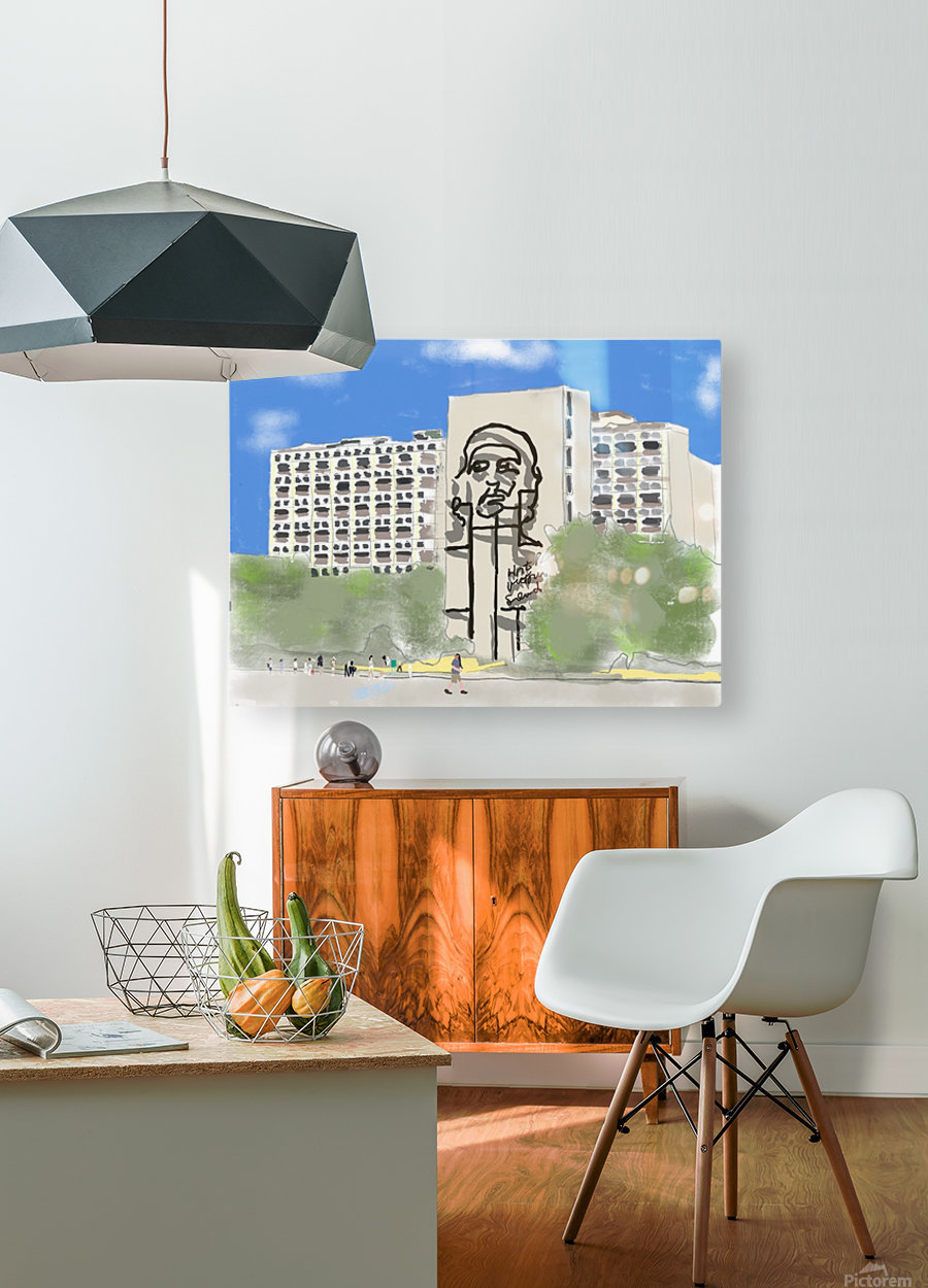 Cuba Revolution Square  HD Metal print with Floating Frame on Back