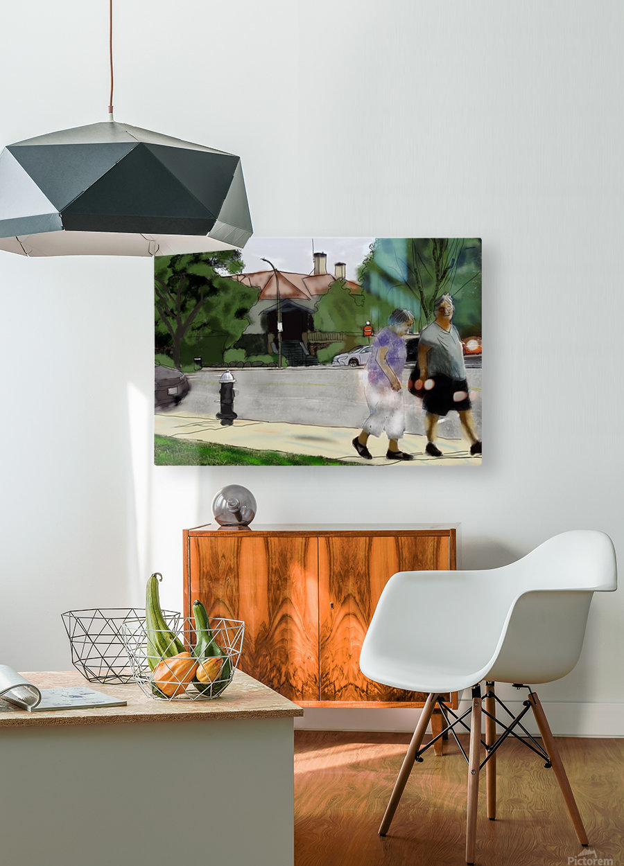 Lexington Louise and Friend  HD Metal print with Floating Frame on Back