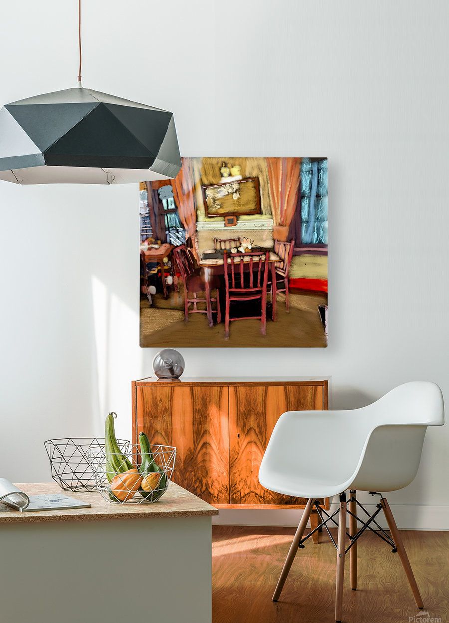 The Hedges Dining Room  HD Metal print with Floating Frame on Back