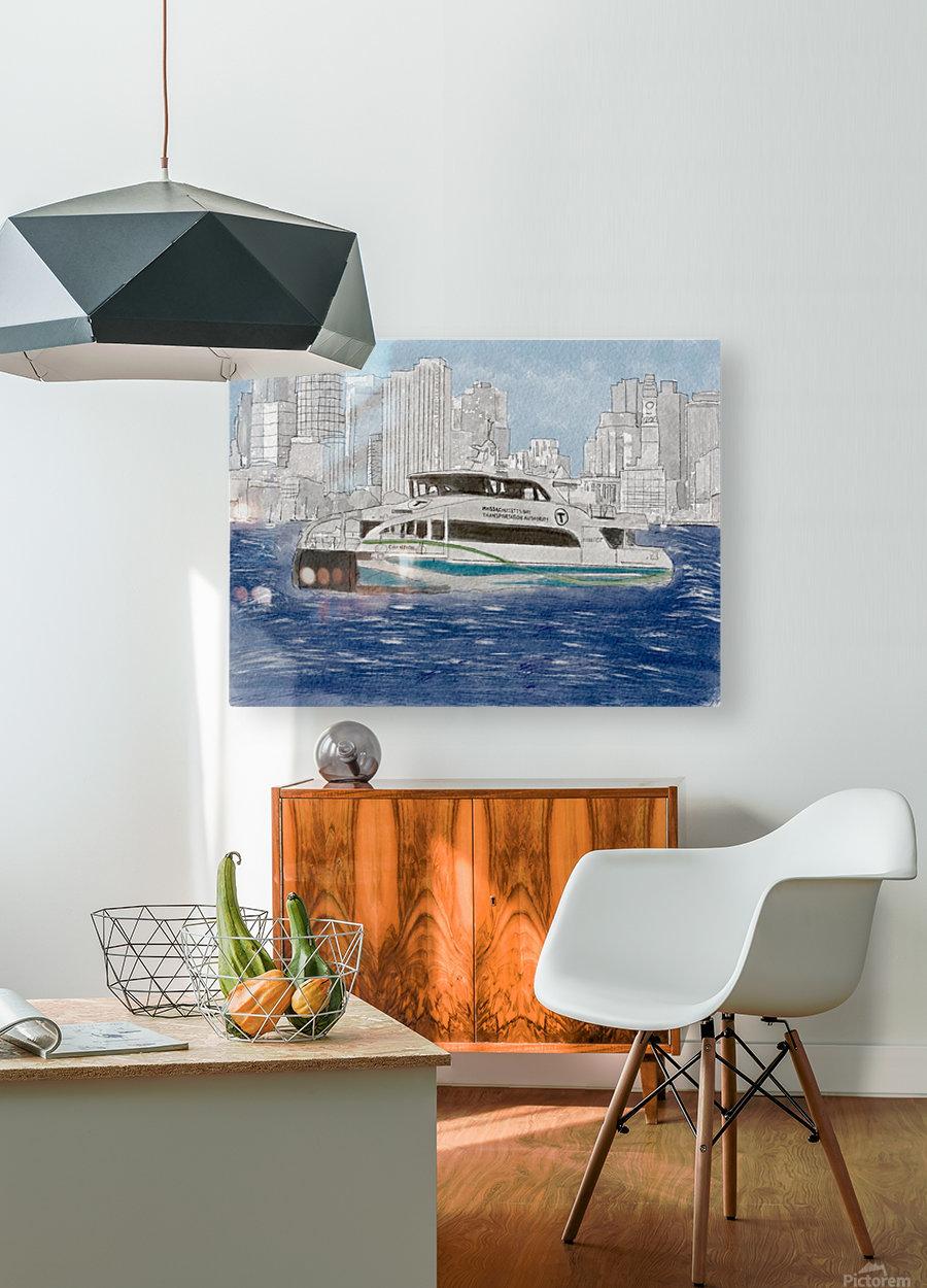 MBTA Hingham-Hull Ferry  HD Metal print with Floating Frame on Back
