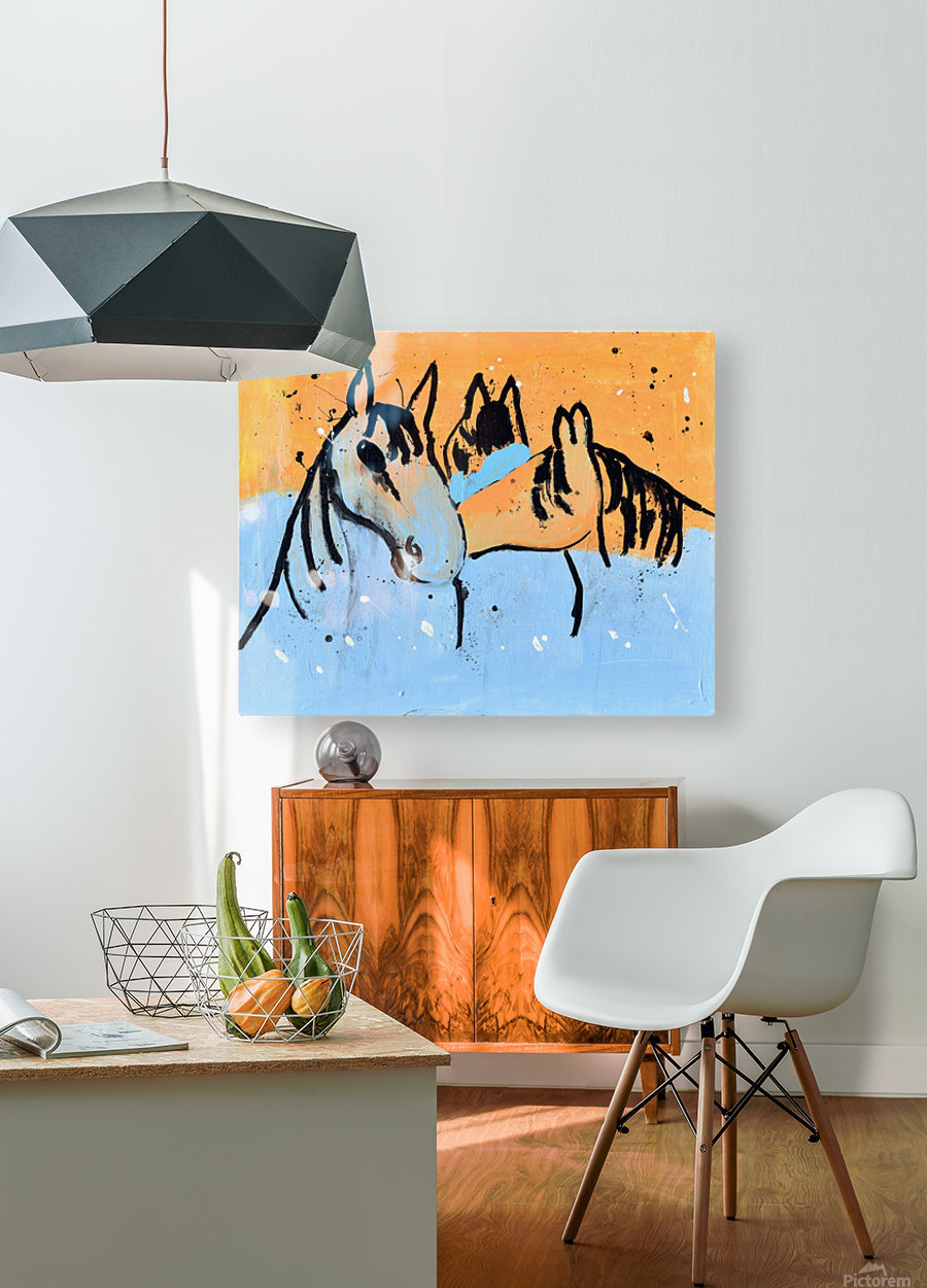 Horses.Davey K.  HD Metal print with Floating Frame on Back