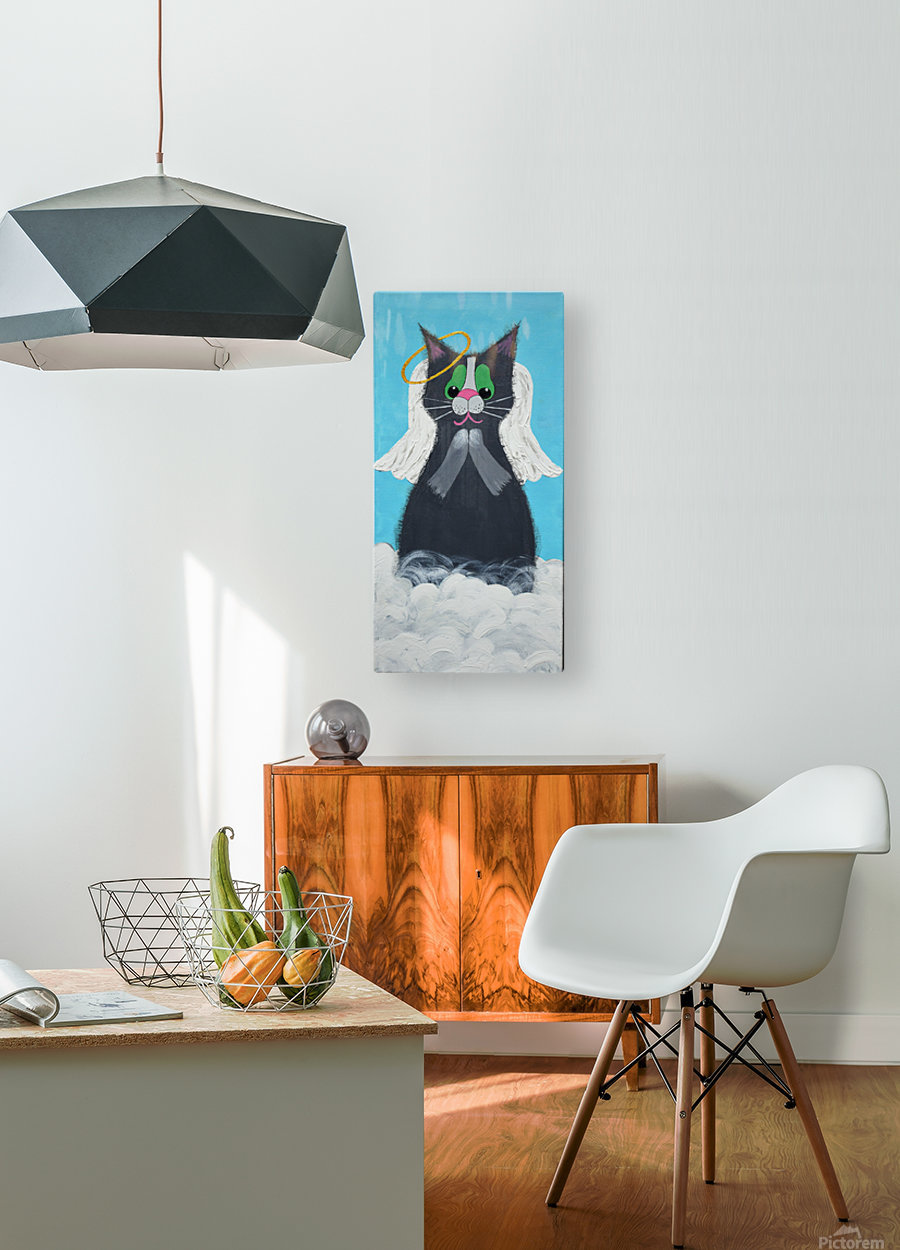 Angel Cat. Heather S.  HD Metal print with Floating Frame on Back