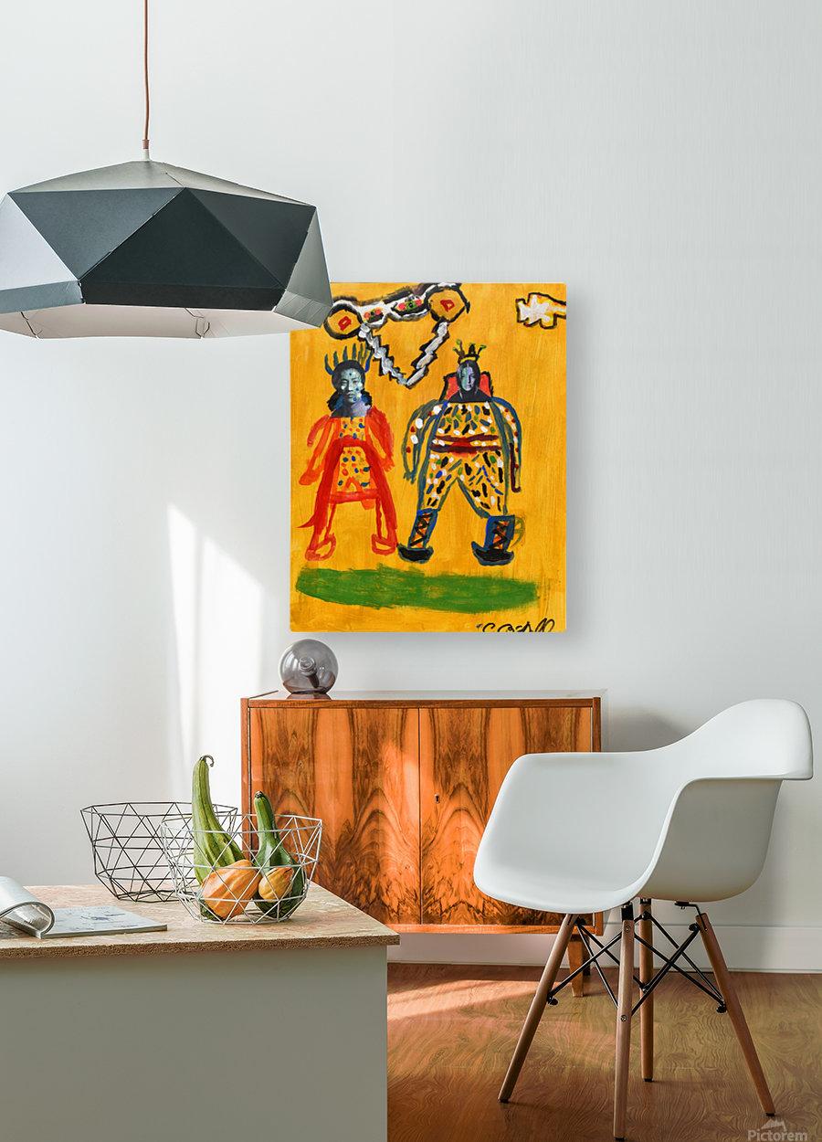 Klimt inspiration. Clyde O.  HD Metal print with Floating Frame on Back
