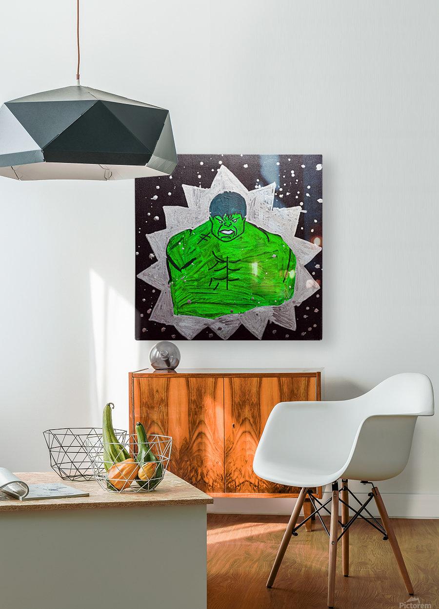 Hulk. Brandon C  HD Metal print with Floating Frame on Back