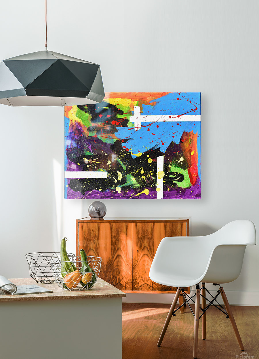 Bright Abstract. Walker W.  HD Metal print with Floating Frame on Back