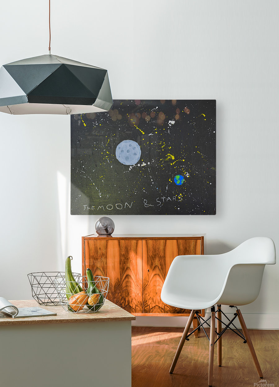 Moon and Stars. David R  HD Metal print with Floating Frame on Back