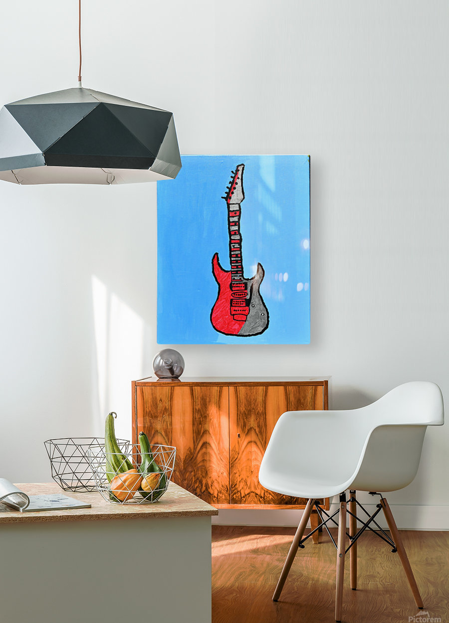 Rock N Roll. Glenn N.  HD Metal print with Floating Frame on Back