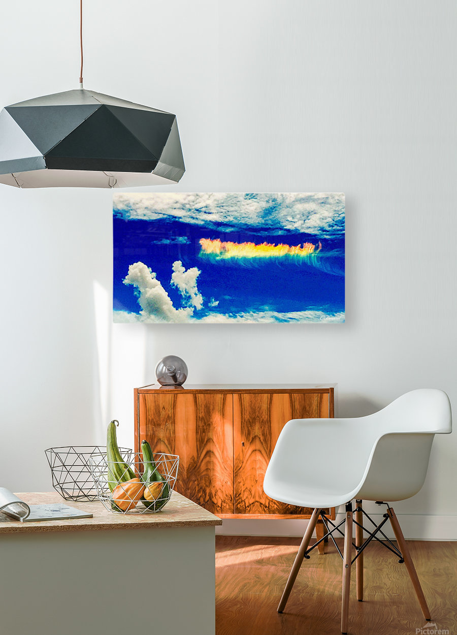 Follow the rainbow   HD Metal print with Floating Frame on Back