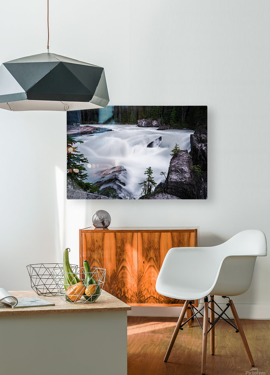 Columbia River  HD Metal print with Floating Frame on Back