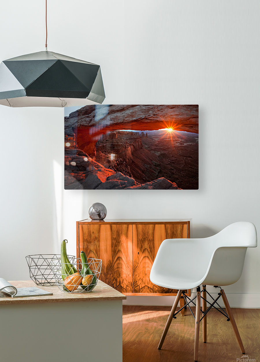 Mesa Arch Sunrise  HD Metal print with Floating Frame on Back