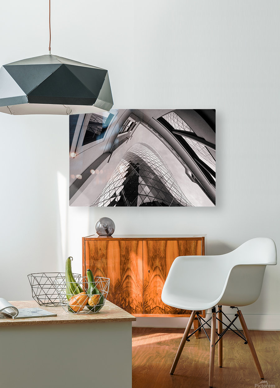 Gherkin  HD Metal print with Floating Frame on Back