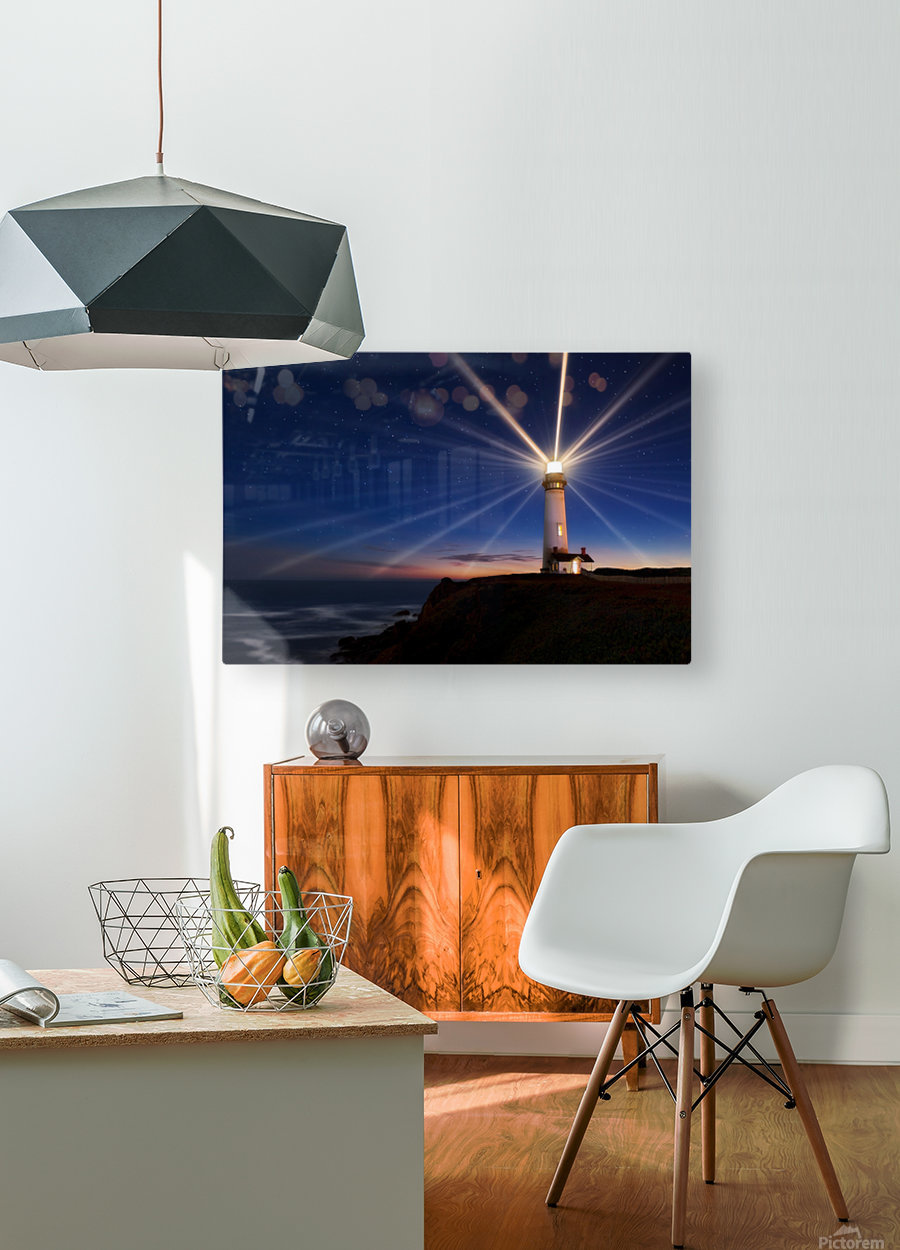 Lighting of the Lens  HD Metal print with Floating Frame on Back