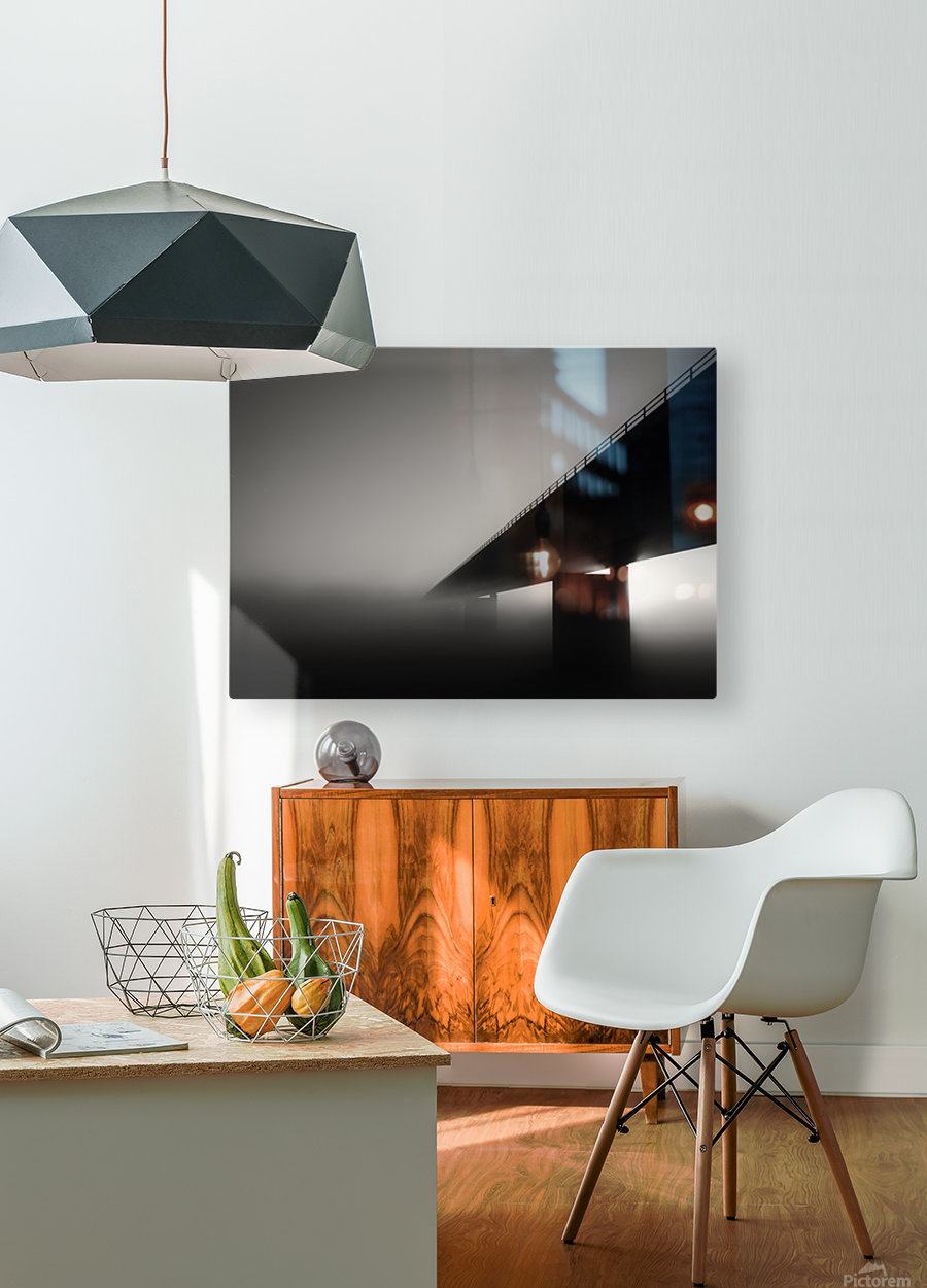 Endless road  HD Metal print with Floating Frame on Back