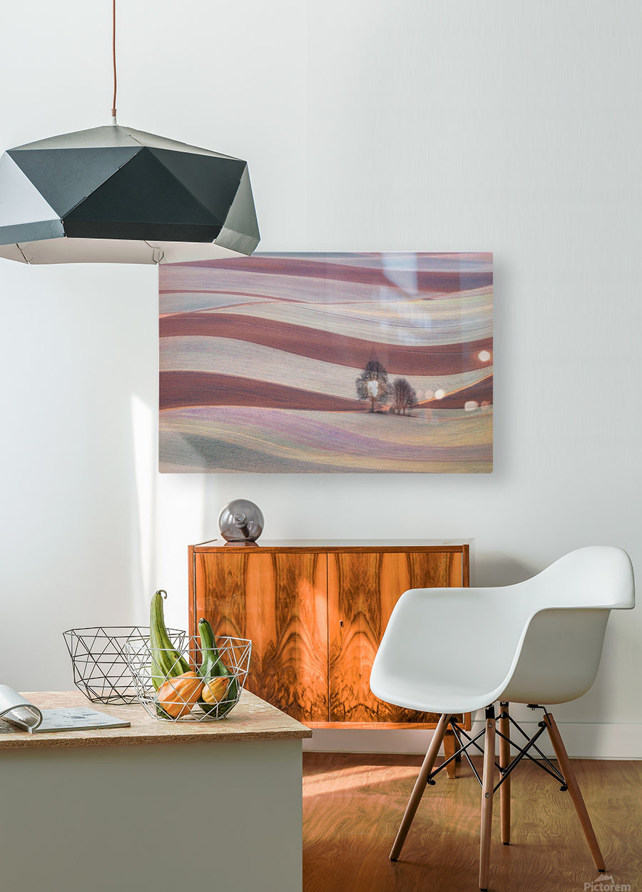 Waves  HD Metal print with Floating Frame on Back