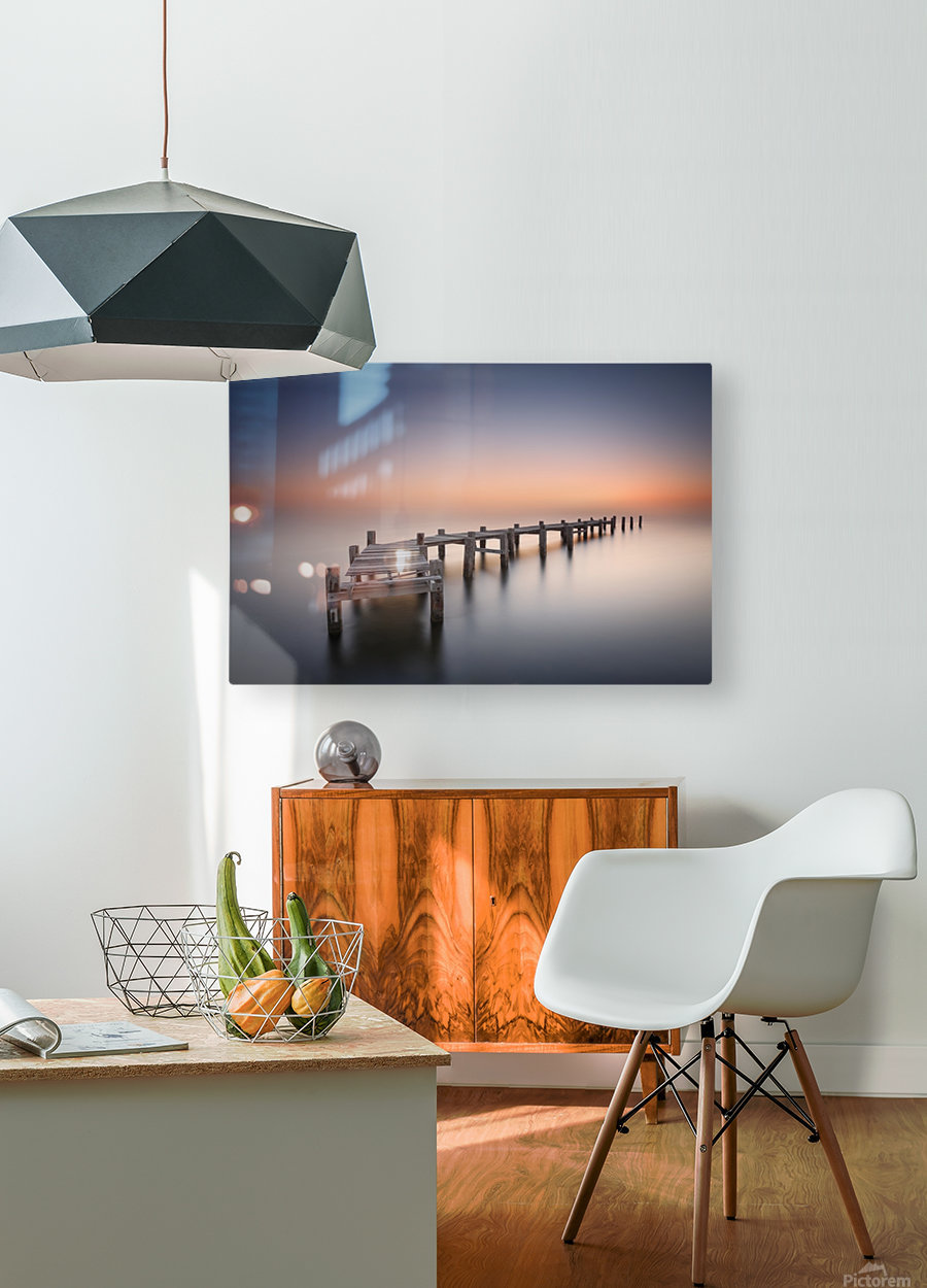 Old pier II  HD Metal print with Floating Frame on Back