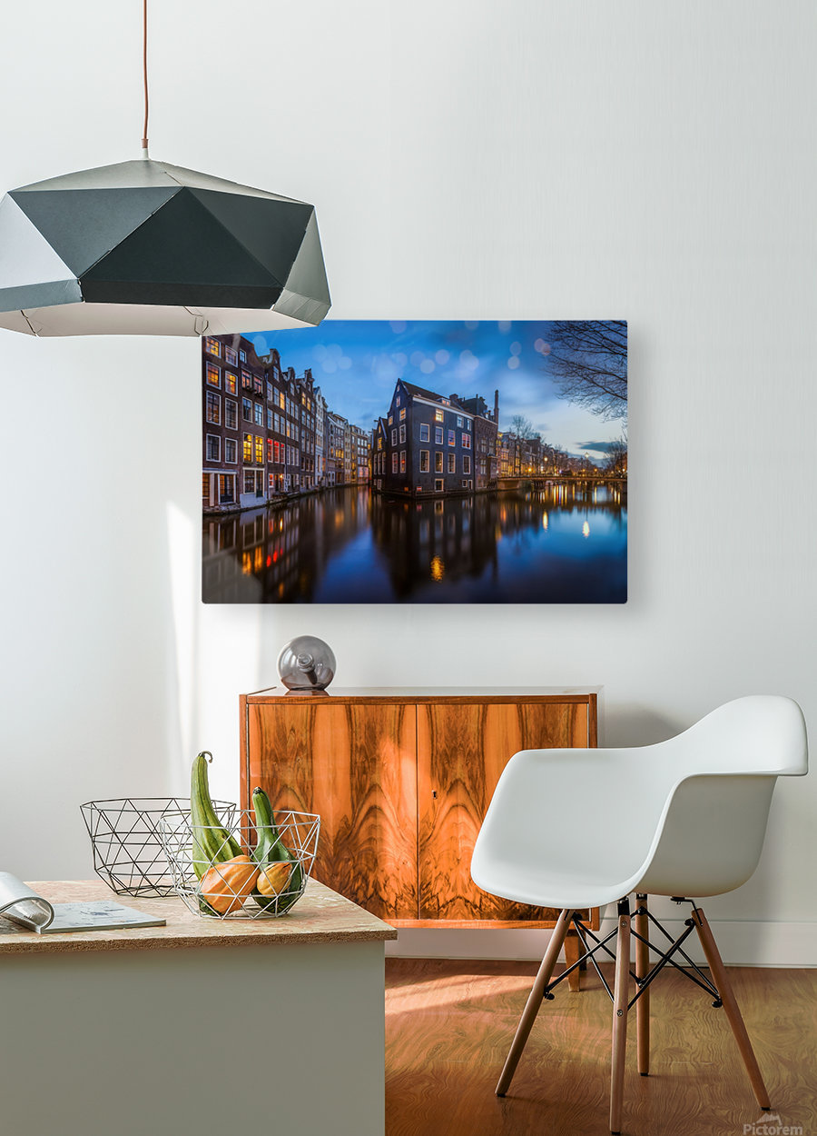 Blue Amsterdam  HD Metal print with Floating Frame on Back