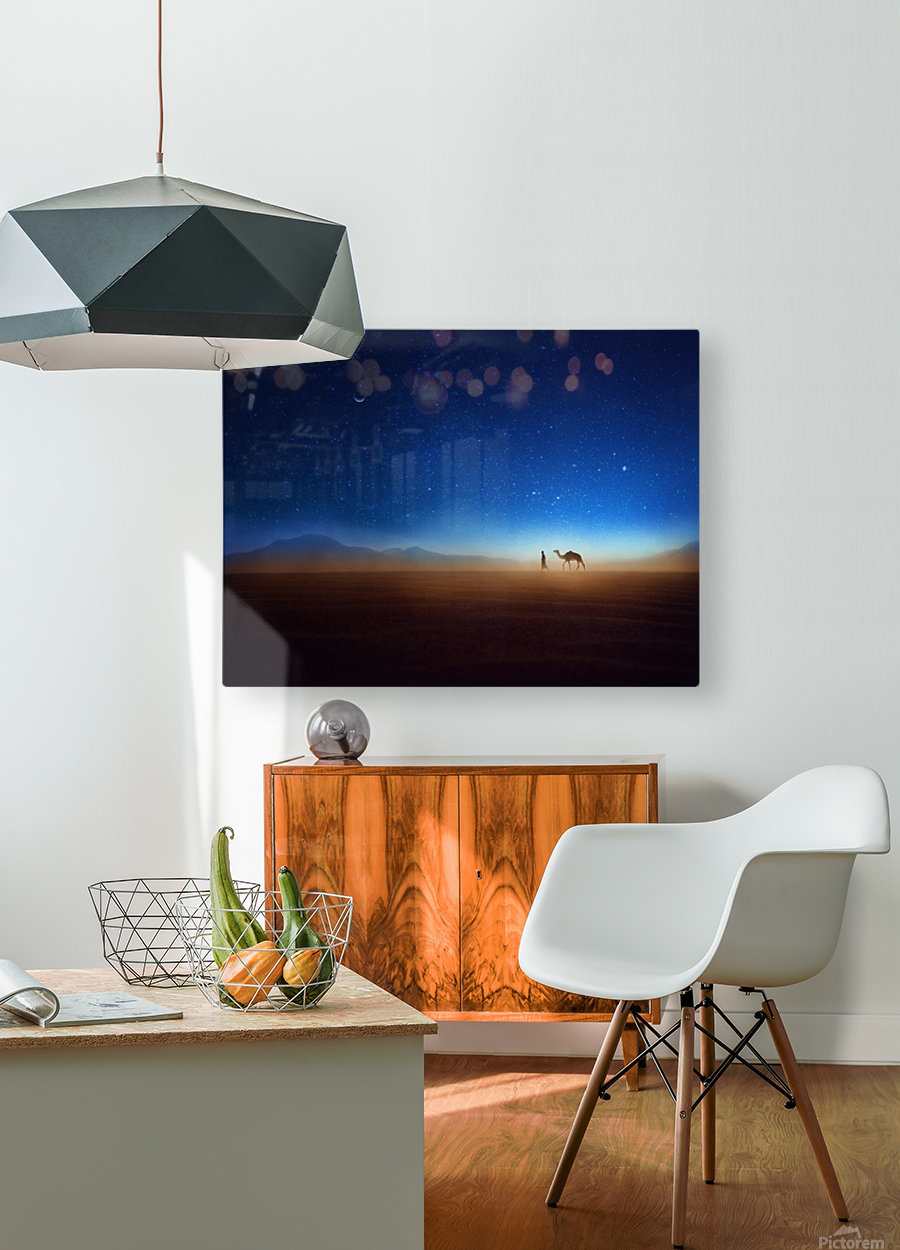 Go home  HD Metal print with Floating Frame on Back