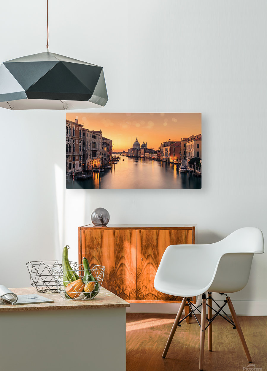 Dawn on Venice  HD Metal print with Floating Frame on Back