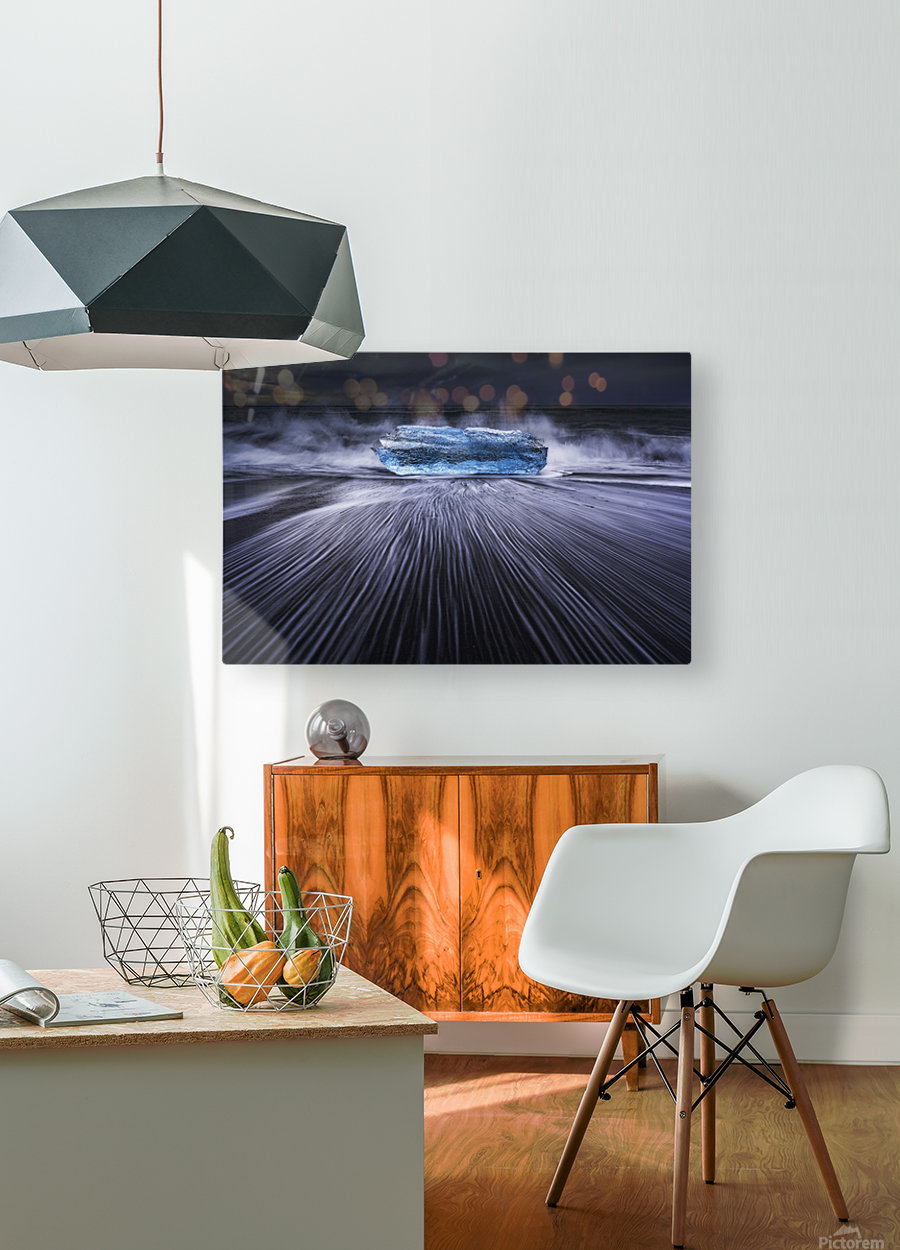 Blue Diamond  HD Metal print with Floating Frame on Back