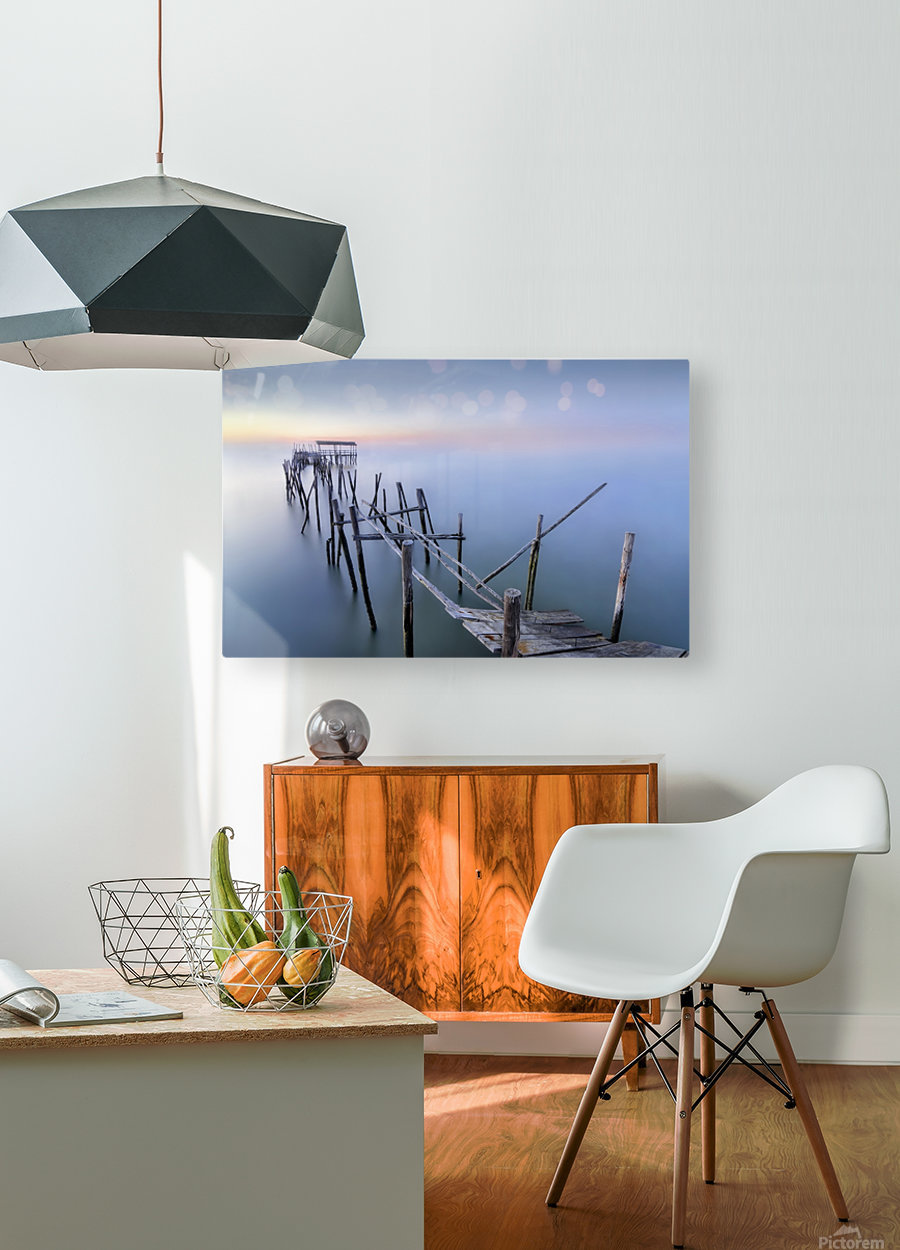 The Old Pier  HD Metal print with Floating Frame on Back