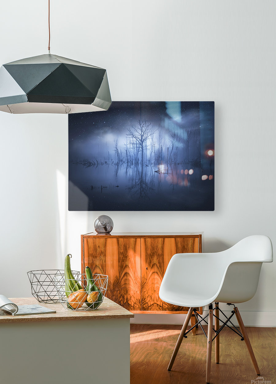 Stranger things  HD Metal print with Floating Frame on Back