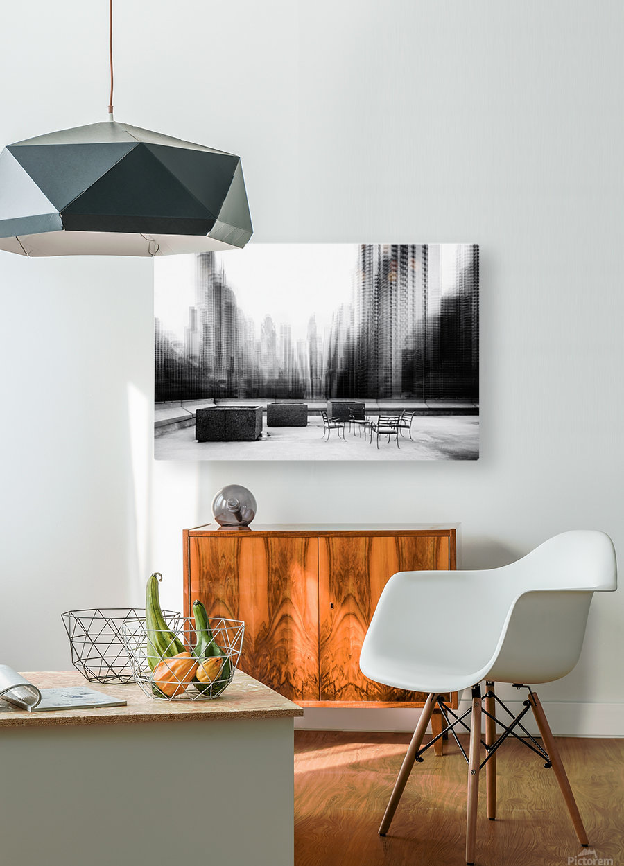 the terrace  HD Metal print with Floating Frame on Back