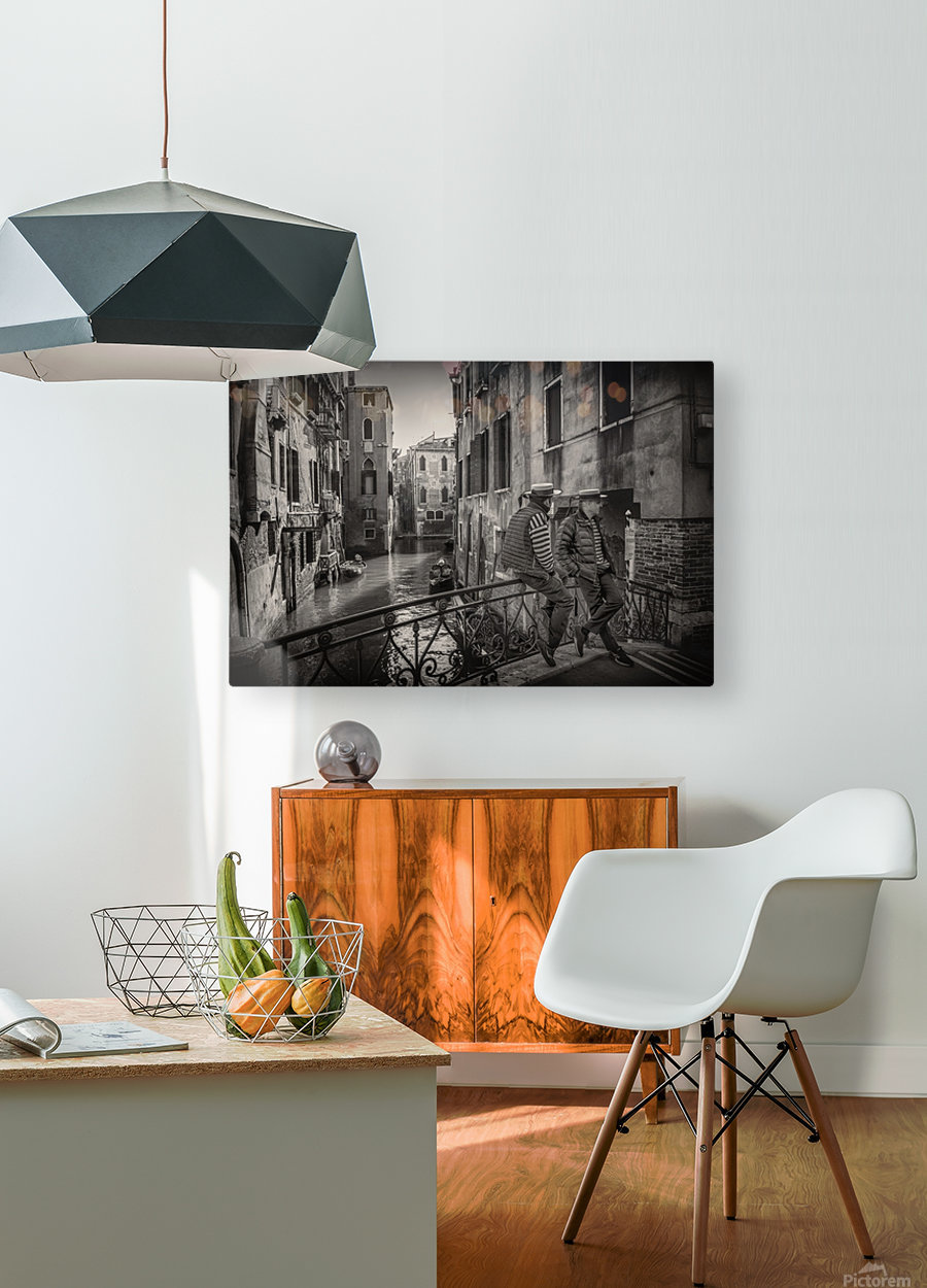 Gondolieri  HD Metal print with Floating Frame on Back