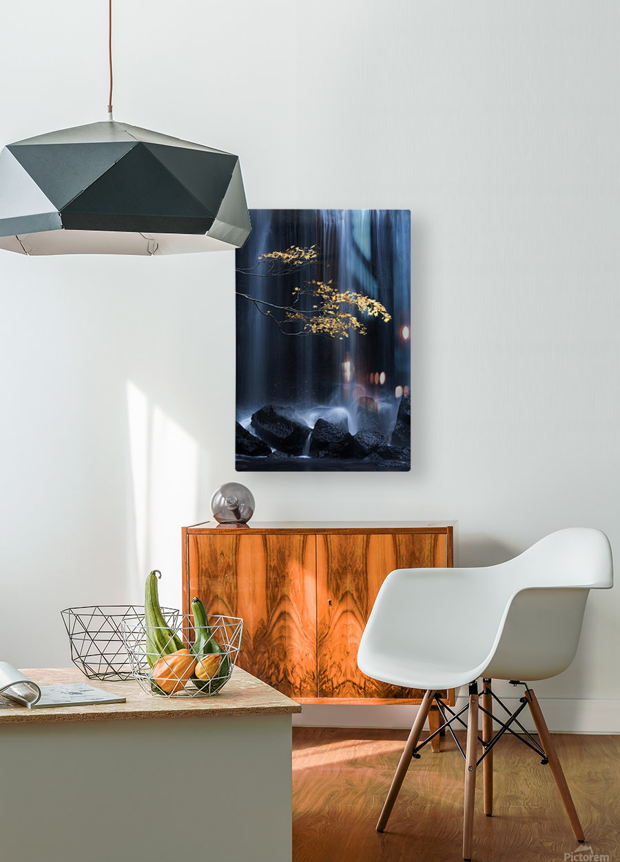 Yellow Autumn  HD Metal print with Floating Frame on Back