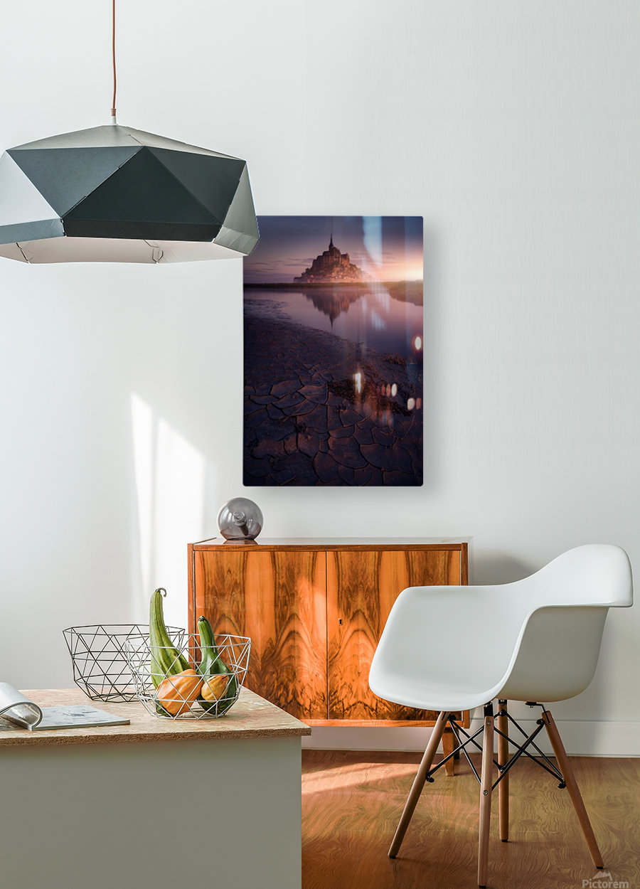 Mont St. Michelle  HD Metal print with Floating Frame on Back