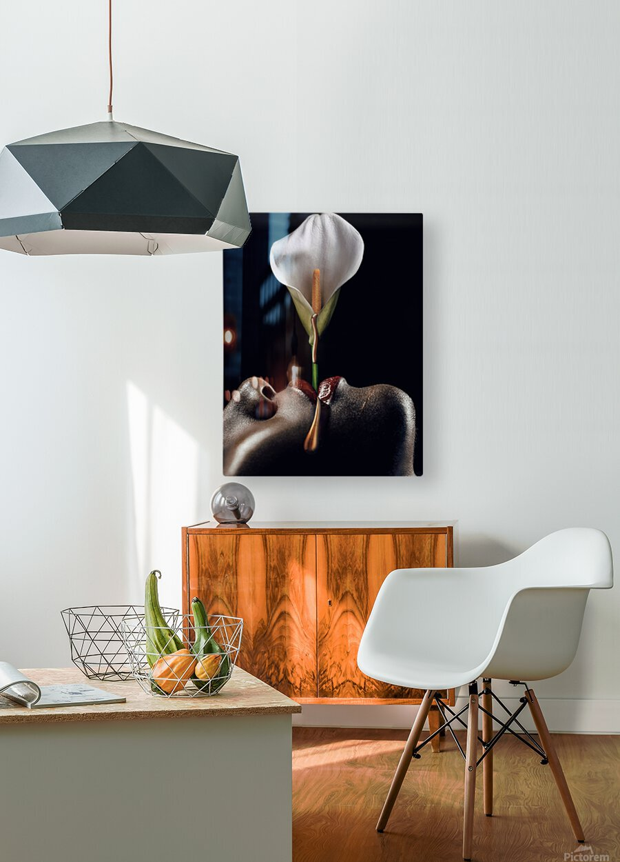 Flowers Garden I  HD Metal print with Floating Frame on Back