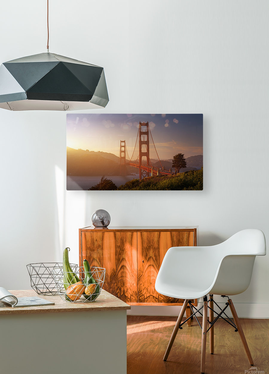 South Golden Gate.  HD Metal print with Floating Frame on Back