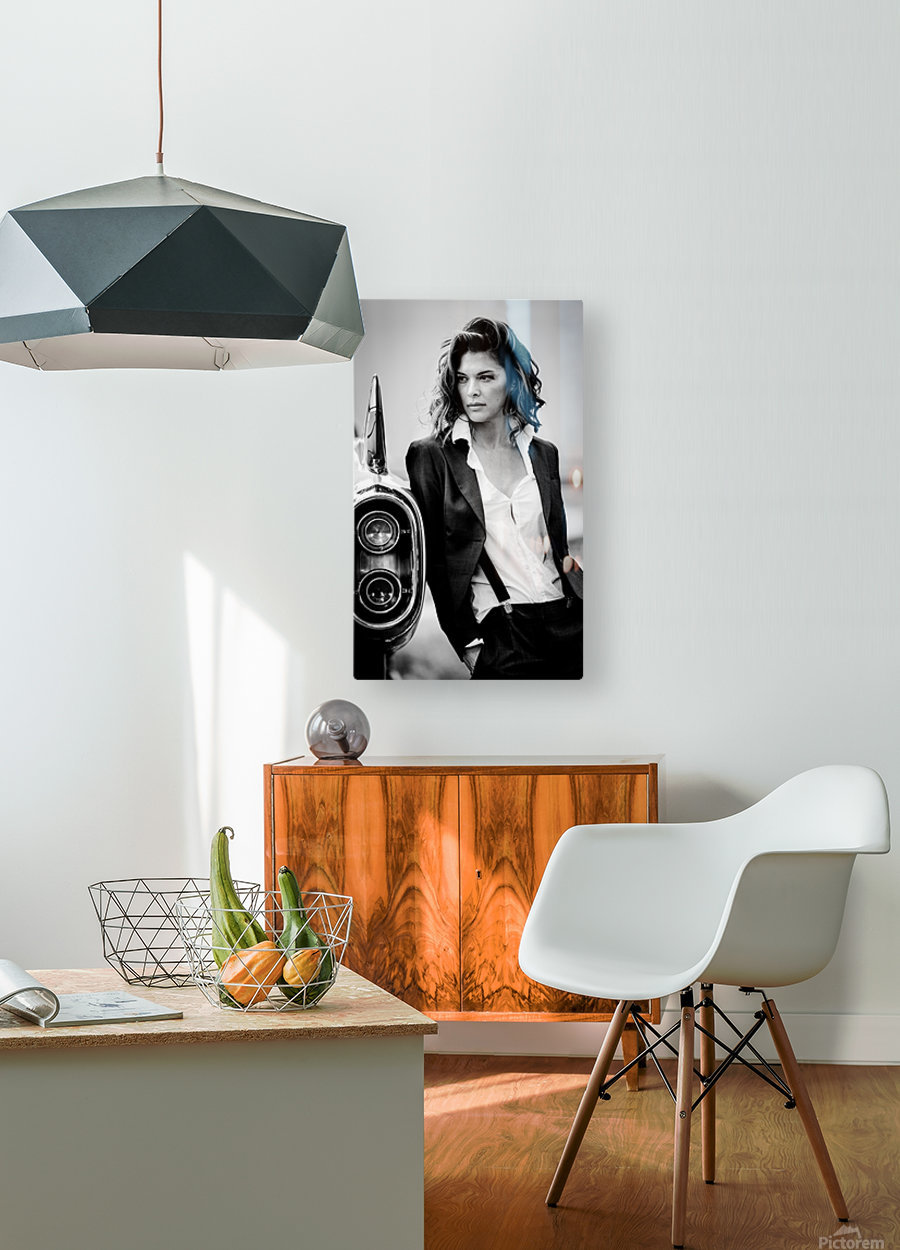 Jamie and the T-Bird  HD Metal print with Floating Frame on Back