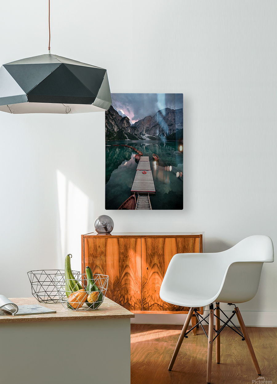 Braies reflections  HD Metal print with Floating Frame on Back