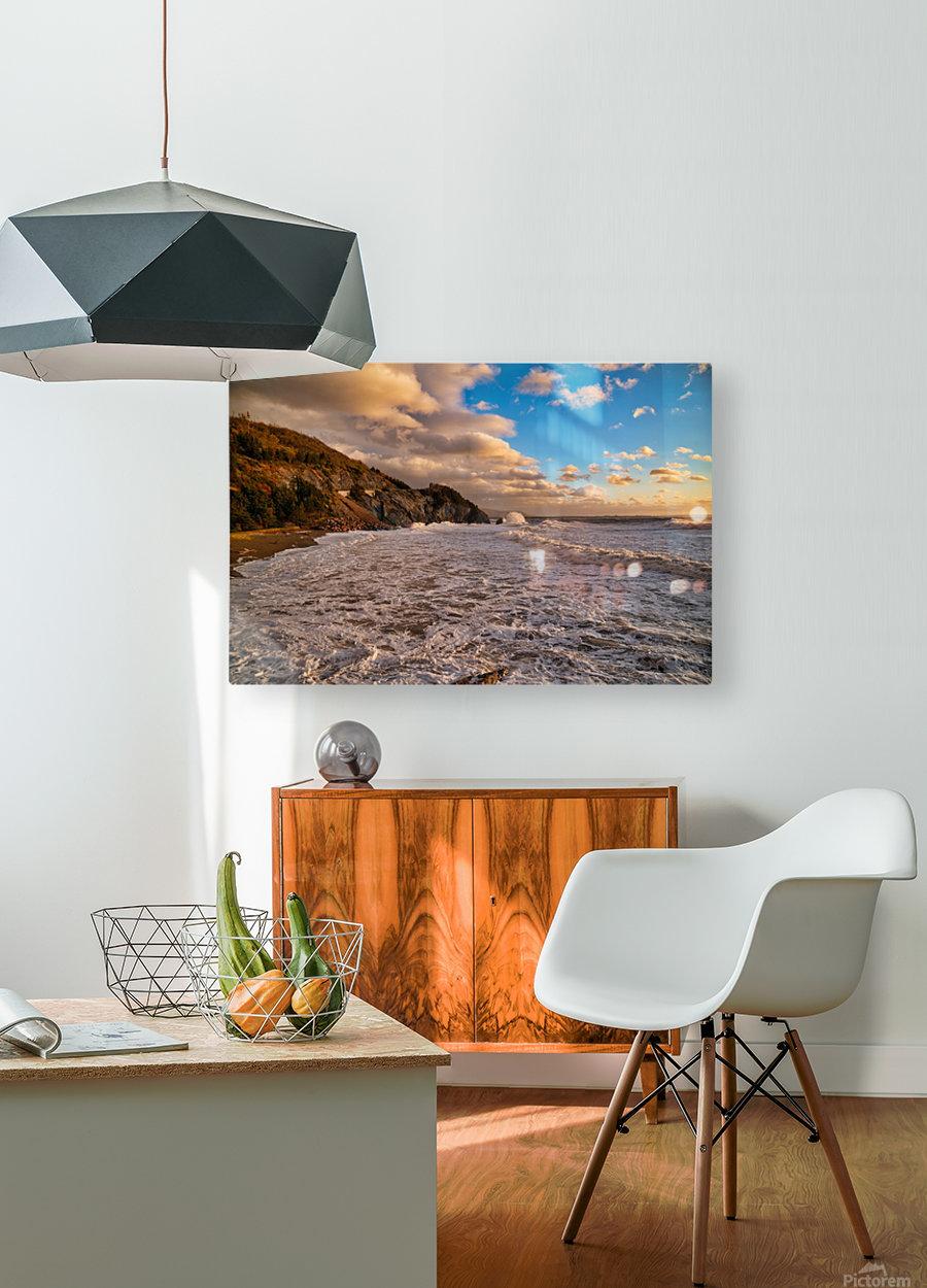 Raging Seas  HD Metal print with Floating Frame on Back