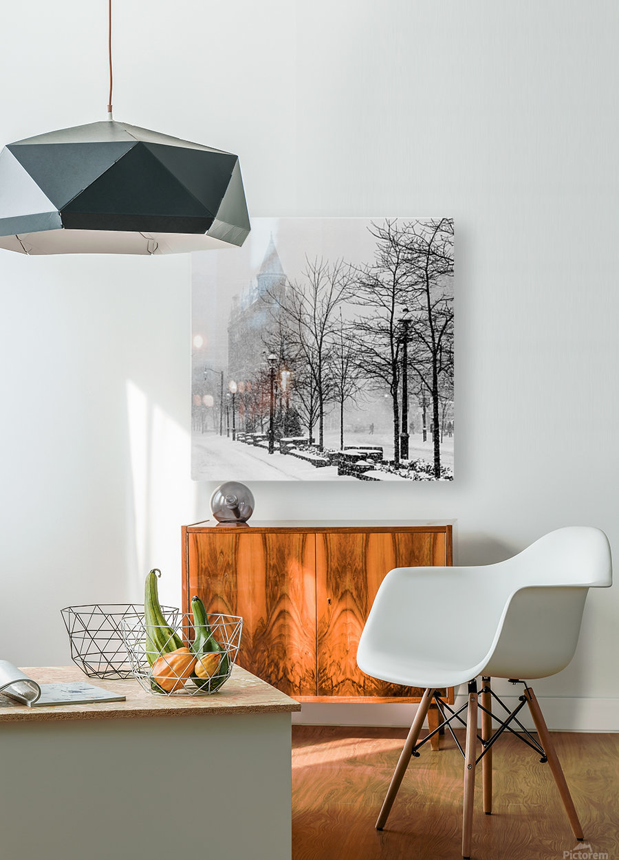 Gooderham in Winter  HD Metal print with Floating Frame on Back