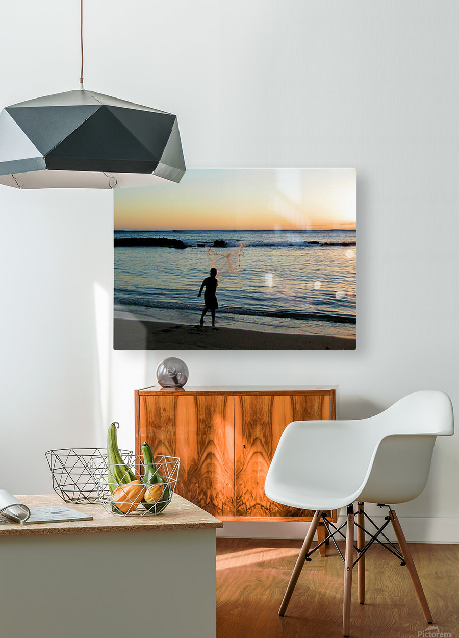 Sunset30  HD Metal print with Floating Frame on Back