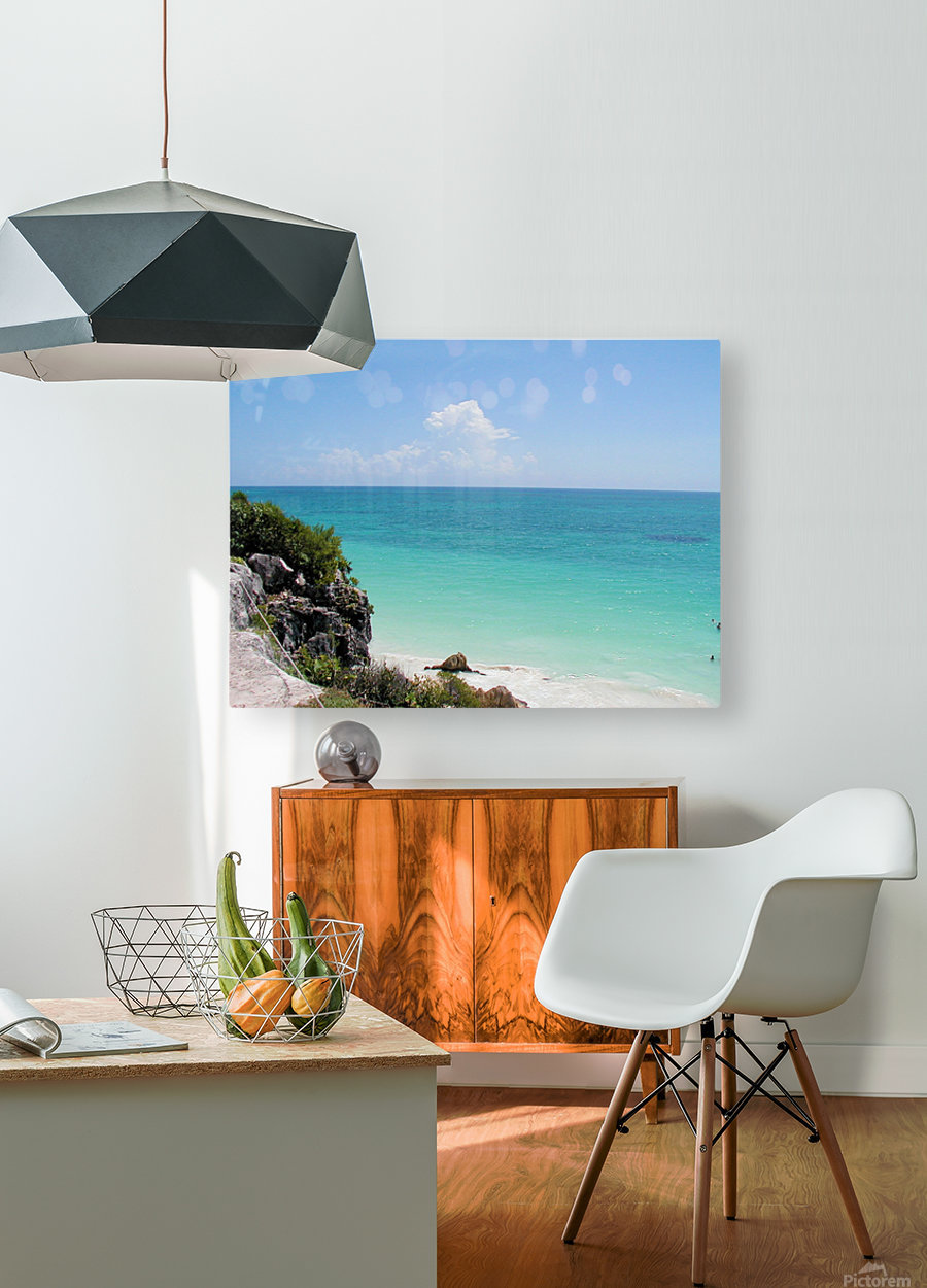 Tropical8  HD Metal print with Floating Frame on Back
