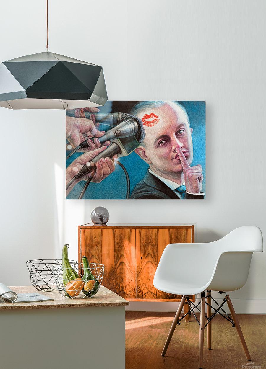Secret Kiss By Krzysztof Grzondziel  HD Metal print with Floating Frame on Back
