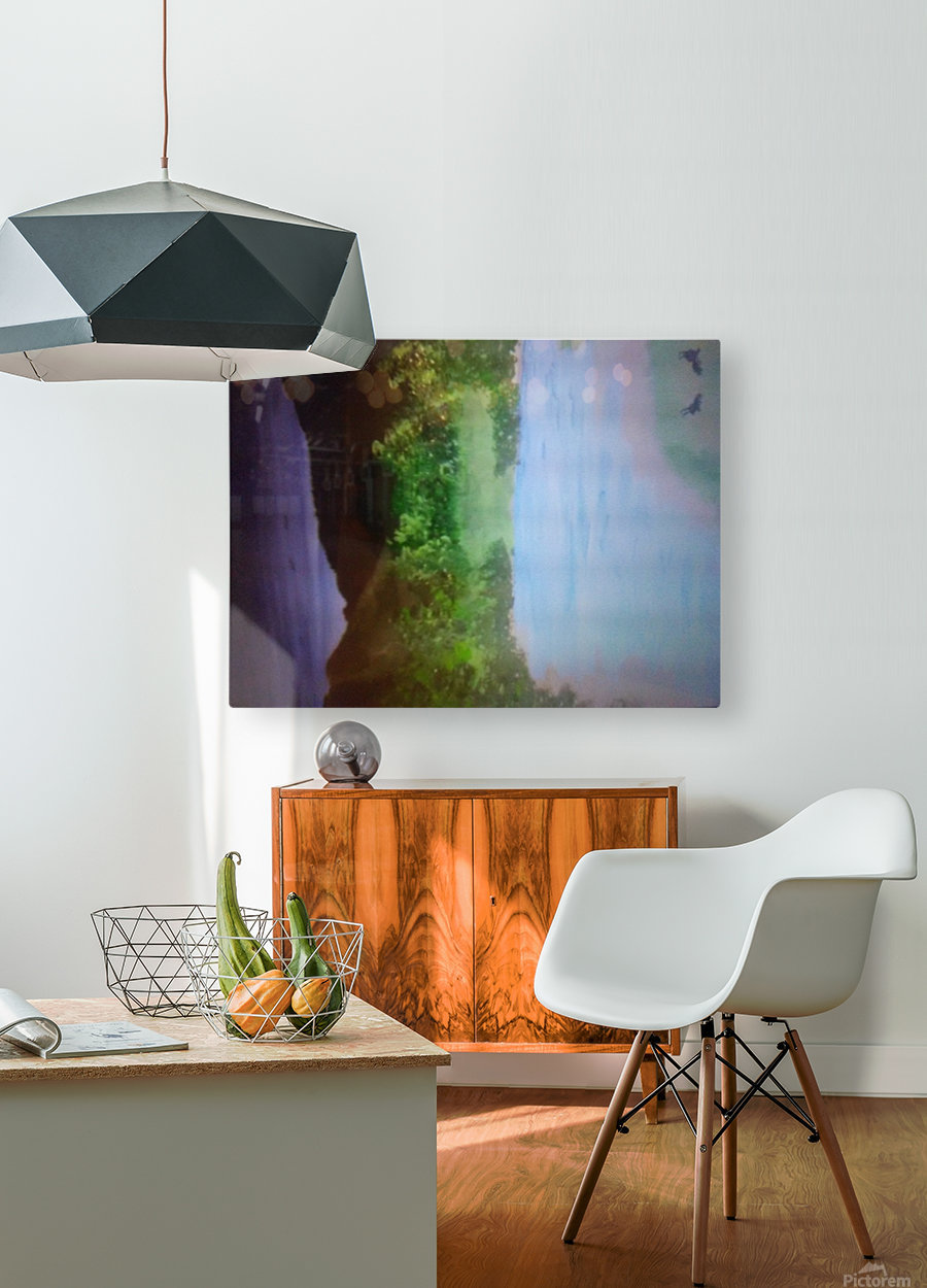 1028182222  HD Metal print with Floating Frame on Back