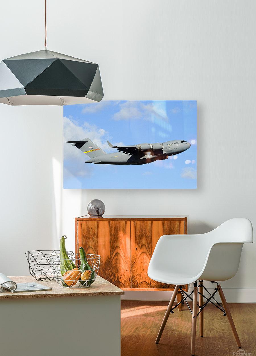 A C-17 Globemaster III  HD Metal print with Floating Frame on Back