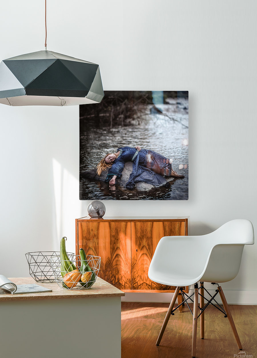 Wrecked  HD Metal print with Floating Frame on Back