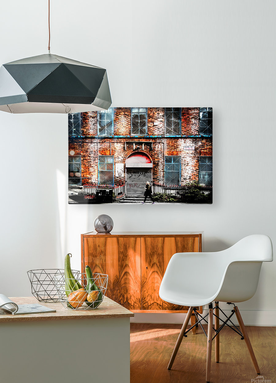 Liverpool City Street  HD Metal print with Floating Frame on Back