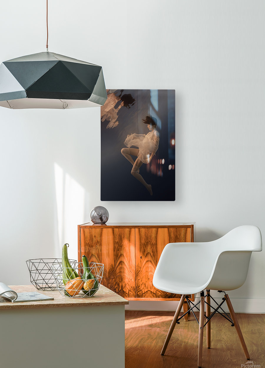 Beauty weightlessness  HD Metal print with Floating Frame on Back