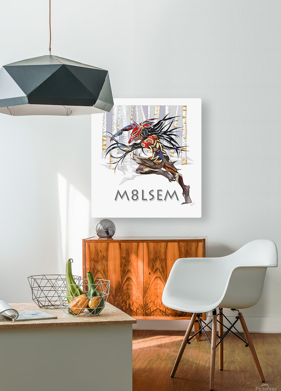 Loup_M8lsem_AnikLafreniere  HD Metal print with Floating Frame on Back