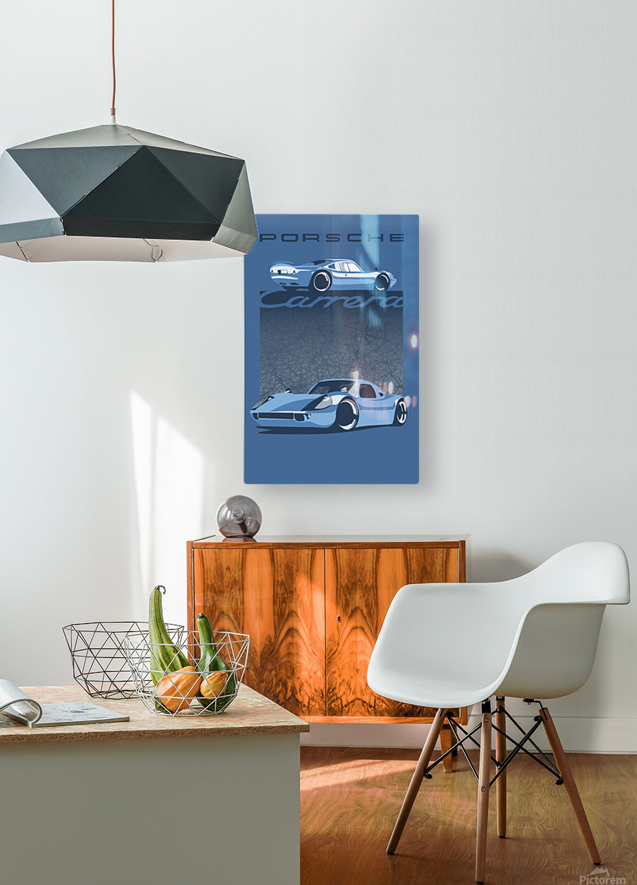 Carrera  HD Metal print with Floating Frame on Back